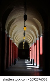 Arched hallway perspective