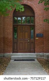 Arched Wooden Doorway