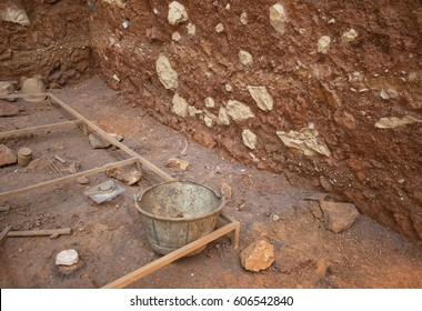 Archeological excavation