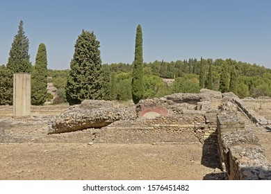 Archeological excavation of the ruins of Italica, Roman city in the province of Hispania Baetica near the current village of Santiponce, Sevilla, Andalusia, Spain