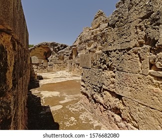 Archeological excavation of the ruins of Italica, Roman city in the province of Hispania Baetica near the current village of Santiponce, Seville, Andalusia, Spain