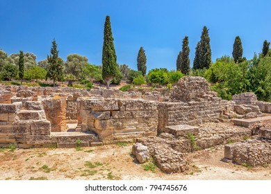 Archeological site of ancient town Gortyna on Crete, Greece