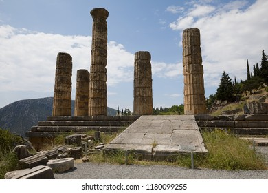 Archeological site of Delphi in Greece