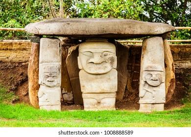Archeological site of San Agustín in Colombia