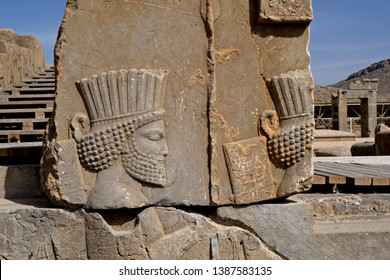 The archeological's site of the ancient persian city, Persepolis; a UNESCO world heritage site, nearby Shiraz, in Iran.