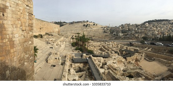 ARCHEOLOGY: In front of the ancient Jewish Second Temple stood ritual baths (Mikvas) for purification. To the left is the Temple south wall and the steps where Jesus cast off the money changers.