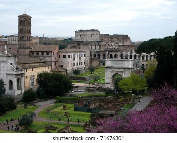 Archeology Site in Rome, Italy