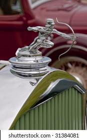 Archer hood ornament on vintage 1930ies classic american car