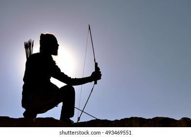 archer man silhouette