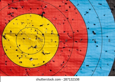 Sporting Goods Target Flag Yellow Archery Beautiful In Colour