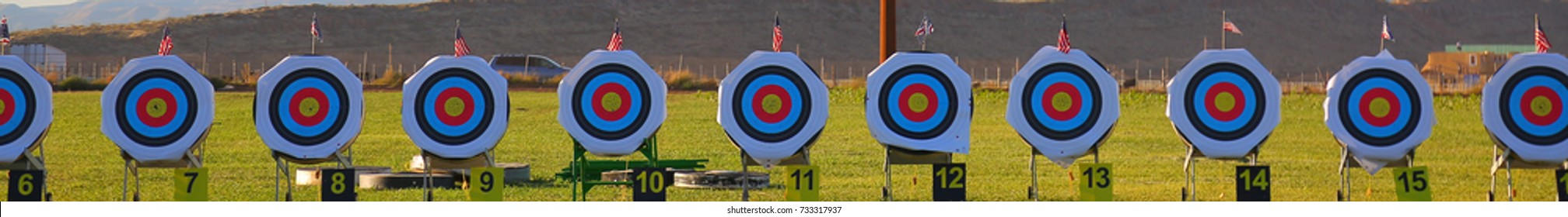 Archery targets on a beautiful morning at the Huntsman World Senior Games, St. George, Utah