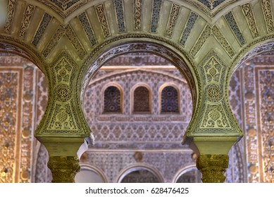 Arches at Alcazar Sevilla Andalucia, Spain