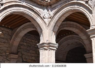 Arches, architecture, Mexico, stone