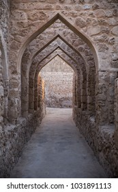 Arches of the entrance to the Bahrain Fort.