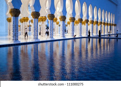 Arches of Grand mosque of Abu Dhabi