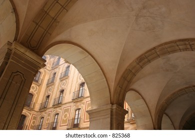 Arches at Montserrat in Spain.