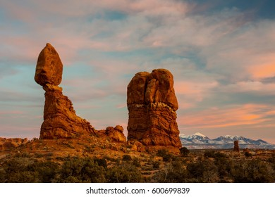 Arches National Park at Sunset in Utah