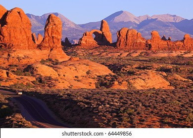 arches in Arches National Park, Utah.