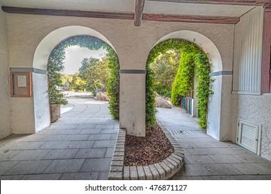 arches in Porto Rotondo, Sardinia