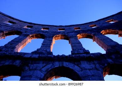 Arches of the Roman amphitheatre