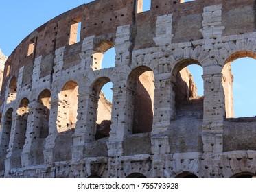Arches Through Colosseum