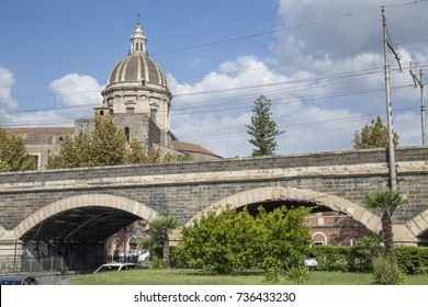 Archi della Marina in Catania, Sicily, Italy.
