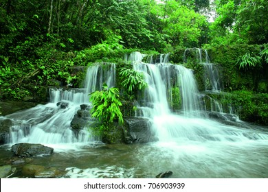 Archidona waterfalls landscape in the Ecuador Amazon Rainforest