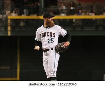 Archie Bradley pitcher for the Arizona Diamondbacks at Chase Field in Phoenix Arizona USA August 21,2018.