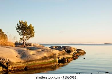 Archipelago in Sweden at autumn.