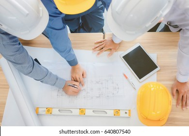 Architect and businessman planning meeting to work with commitment, set mind.