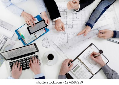 Architects team at work