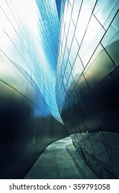 Architectural with abstract facade in the light.