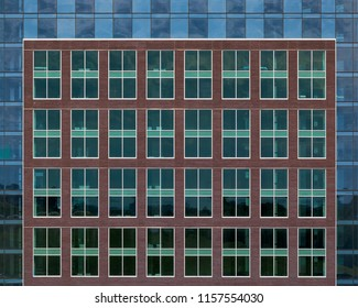 Architectural abstract of modern buildings in downtown Halifax, Nova Scotia