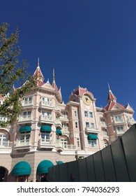 Architectural appearance of Disney Park in Paris, France