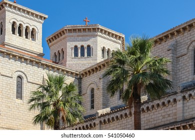 The architectural appearance of the mansions on the streets of the principality of Monaco, southern France