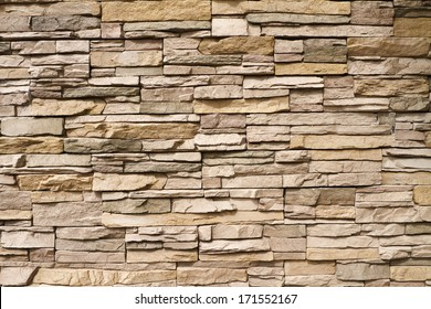 Architectural background of contemporary stacked stone wall