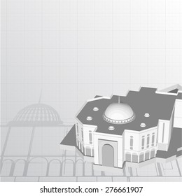 Architectural background for architectural project,  architectural brochure, technical project, architectural drawing.