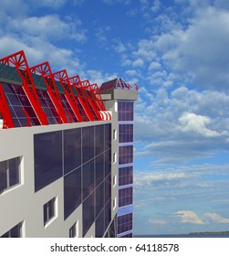 Architectural background with top of building