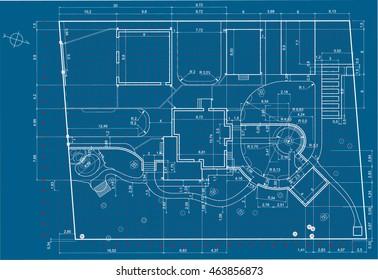 Architectural background.Urban Blueprint.Landscape design section.