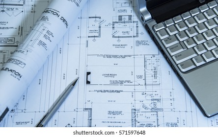 House blueprint images stock photos vectors shutterstock architectural blueprints drawings malvernweather Gallery