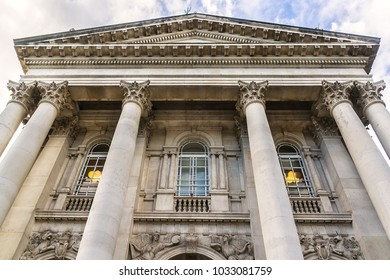 Architectural building fragment of Original Tate Gallery, now renamed as Tate Britain (from 1897 - National Gallery of British Art). It is part of Tate network of galleries in England. London.