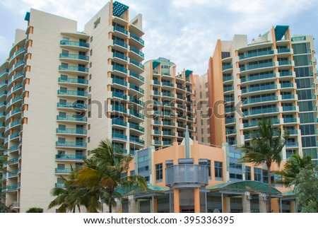 Architectural Building Vacation Rental Miami Style Stock Photo Edit