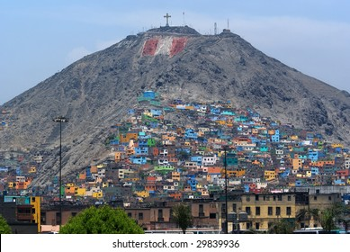 Architectural Chaos in poverty zones, Lima, Peru