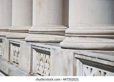 Architectural Columns on a Federal Courthouse for Lawyers seeking Justice