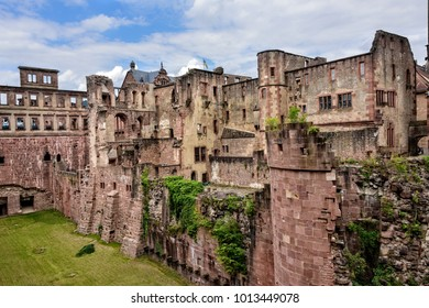 Architectural design of the Heidelberg Castle in Germany