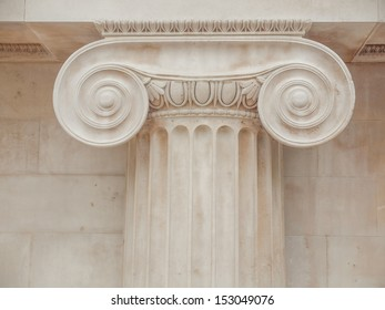 Architectural detail of an ancient decorated capital