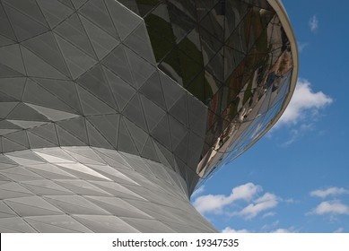 Architectural Detail Of BMW Welt in Munich Germany