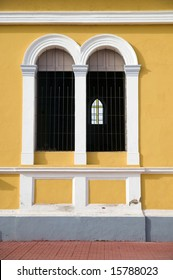 Architectural detail of cathedral in Granada Nicaragua
