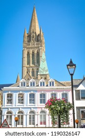Architectural detail of cathedral in Truro, Cornwall, England
