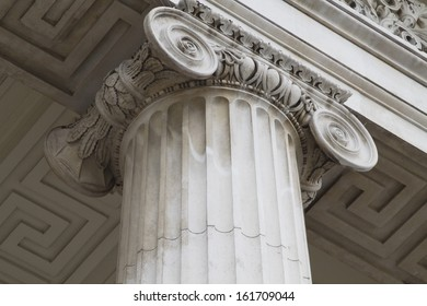 Architectural detail of a column, General Post Office, O'Connell Street, Dublin, Republic of Ireland